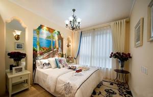 清新到的韩式风格卧室背景墙装修图片鉴赏