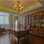 现代书房窗帘图