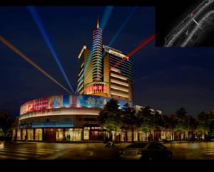 酷美大厦夜晚外墙led灯带装修效果图