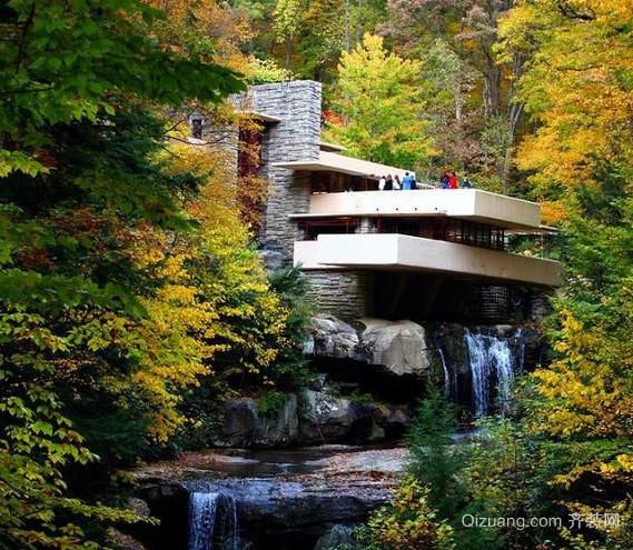 贴近大自然的流水别墅装修设计效果图