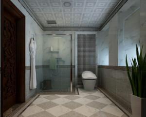 欧式干湿分离卫生间装修效果图