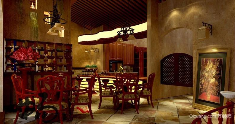 50平米美式复古风格酒窖装修效果图