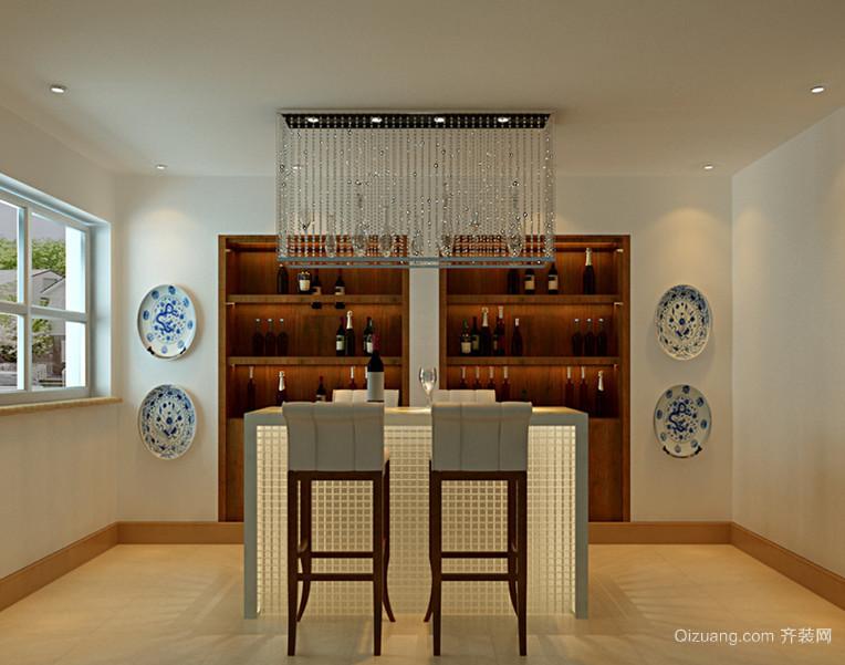 风格独特的中式吧台设计装修效果图