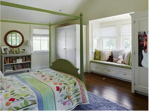 美式乡村卧室飘窗装修效果图
