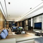 时尚典雅欧式高档别墅客厅吊顶
