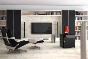 2015现代简约风格人造石电视背景墙装修
