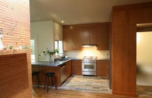 温馨明丽的中式厨房橱柜装修效果图大全