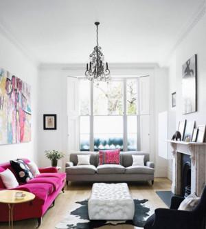 纯色调客厅设计图