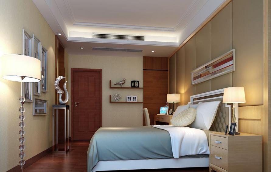 2015大户型意境之美的精装卧室落地灯装修效果图