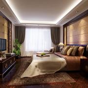 暖色调卧室整体图