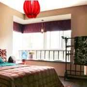 东南亚小卧室窗帘装修