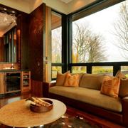 暖色调客厅设计图