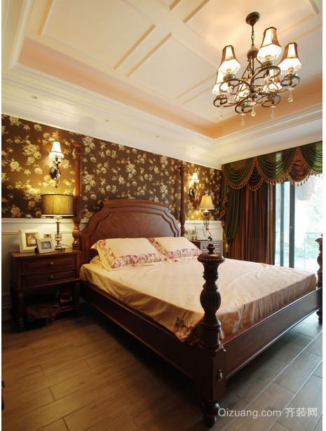 东南亚别墅卧室窗帘装修效果图