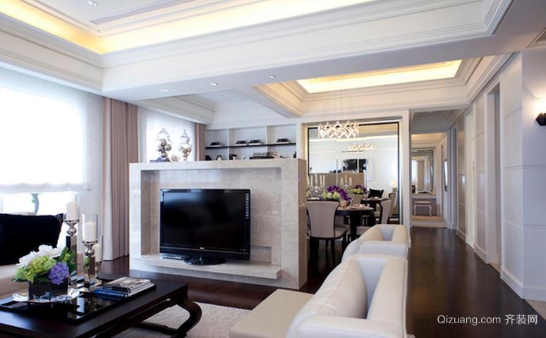 潮流现代的客厅吊顶隔断装修效果图欣赏
