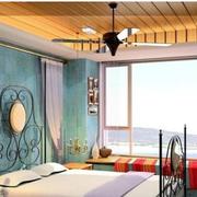 东南亚卧室窗帘装修