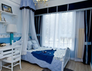 可爱迷人的地中海风格儿童房装修效果图