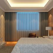 北欧卧室窗帘装修