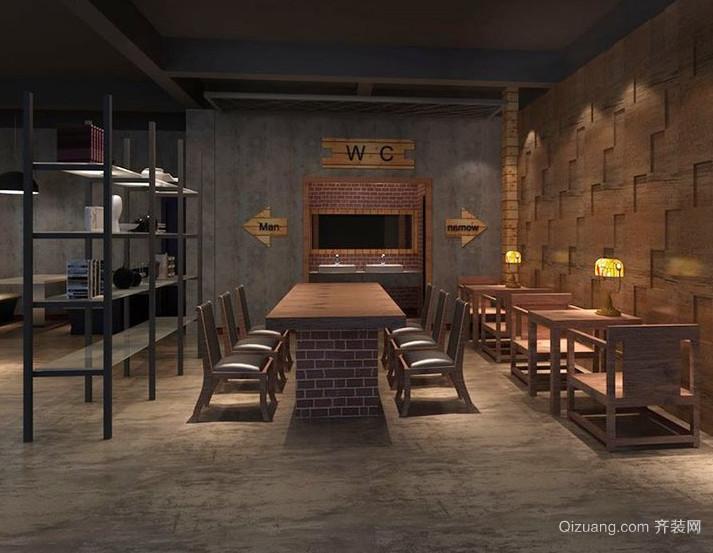 2015繁华地段都市咖啡店吧台装修效果图