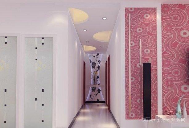 后现代创意美式过道走廊吊顶装修效果图