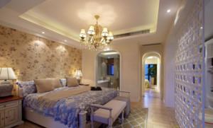 三室一厅地中海风格精美卧室背景墙装修效果图
