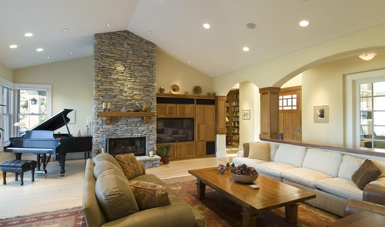 独具一格的现代客厅沙发吊顶造型图片鉴赏