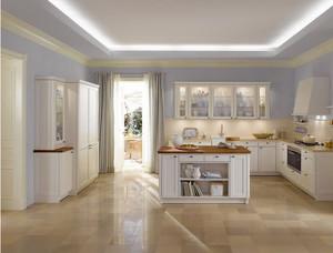 2015雍容华贵的欧式单身公寓厨柜装修效果图