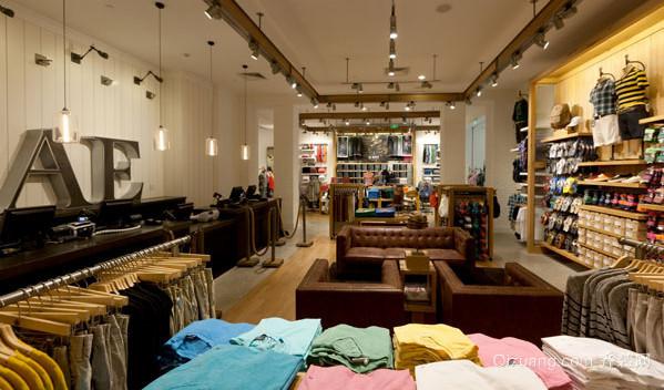 70平米 美式 复古风格 服装店 装修 效果图