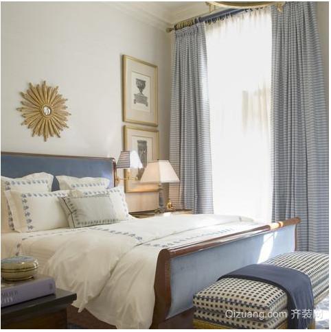 美式小卧室窗帘装修效果图