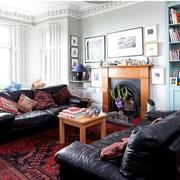 复古北欧客厅窗帘装修