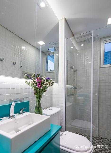 干净整洁的卫生间装修设计效果图鉴赏