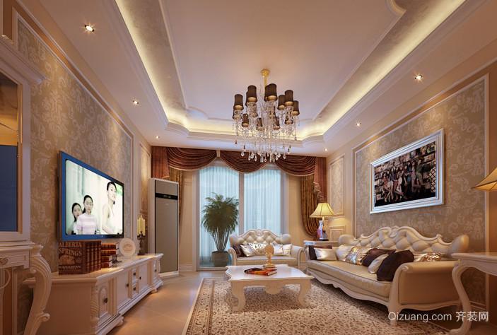 成功人士喜欢的法式客厅电视背景墙装修效果图鉴赏