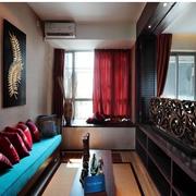 东南亚经典风格过道窗帘装修