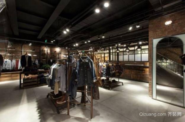 70平米美式复古风格服装店装修效果图