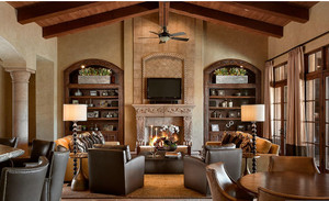 率性的美式别墅客厅电视背景墙效果图