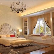 现代卧室飘窗整体图