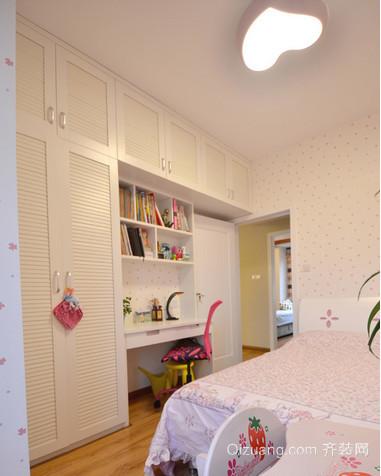 甜美女生粉色卧室衣柜装修效果图