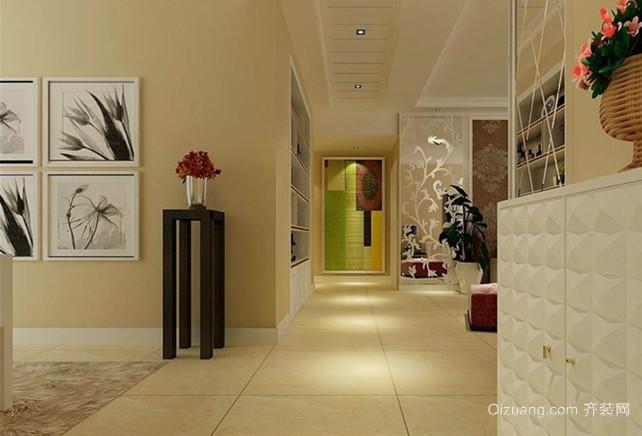 后现代创意美式过道走廊吊顶装修效果图图片