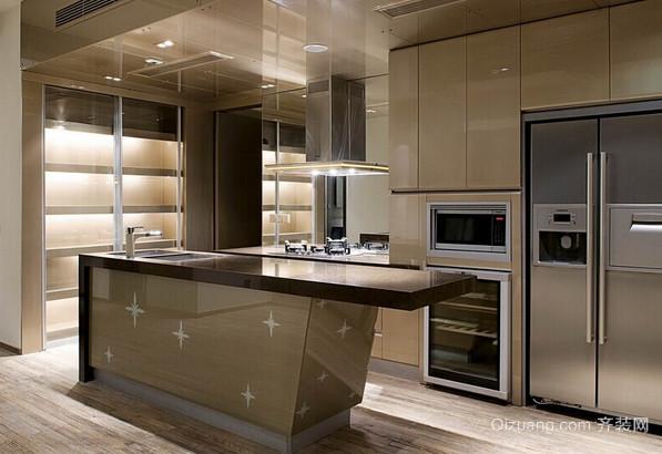120平米现代简约商品房开放式厨房装修效果图