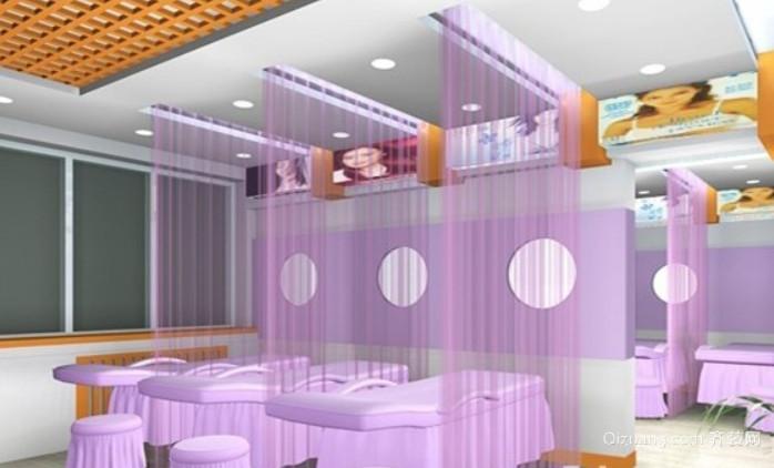 90平米现代简约美容院装修效果图