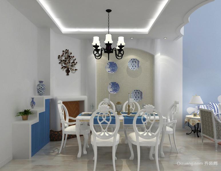 令人流连忘返的地中海风格餐厅背景墙装修效果图欣赏