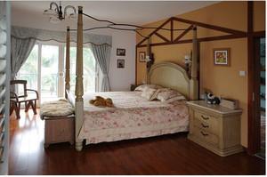 地中海别墅卧室窗帘装修效果图