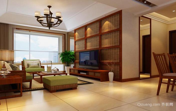 令人向往的东南亚客厅电视背景墙装修效果图鉴赏