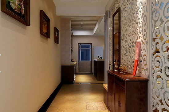 美式大户型别墅走廊吊顶装修效果图