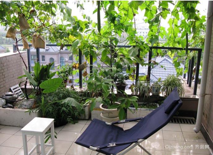 符合现代的简约乡村阳台菜园装修效果图