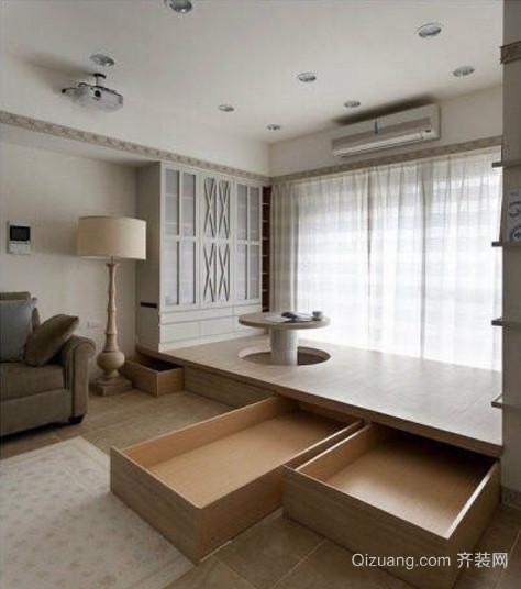 极有日式感觉的小户型宜家榻榻米装修效果图