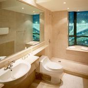 现代浴室色调搭配