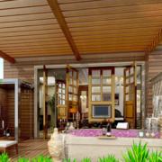 实木吊顶造型图