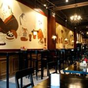 暖色调酒吧设计图
