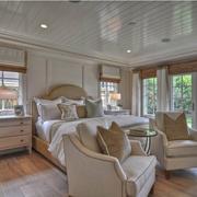 精致的素色调卧室图