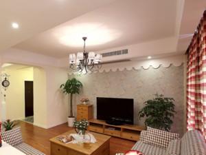 70平米美式复古风格客厅装修